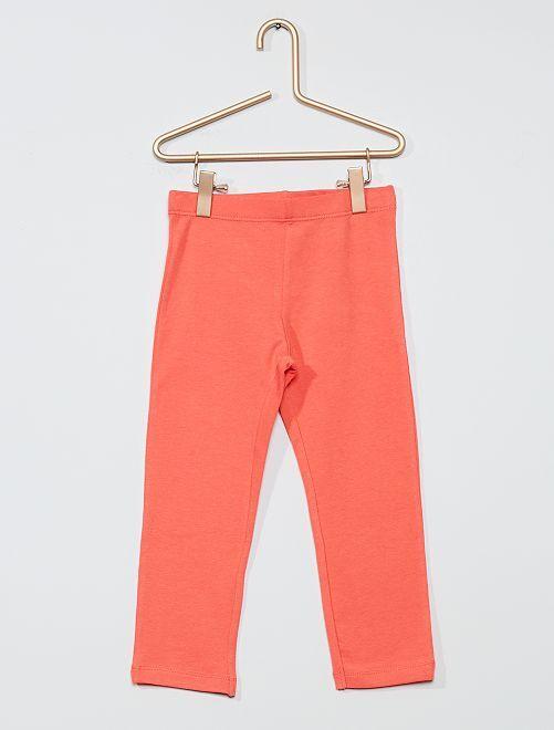 Leggings corti in tinta unita                                                                 rosa
