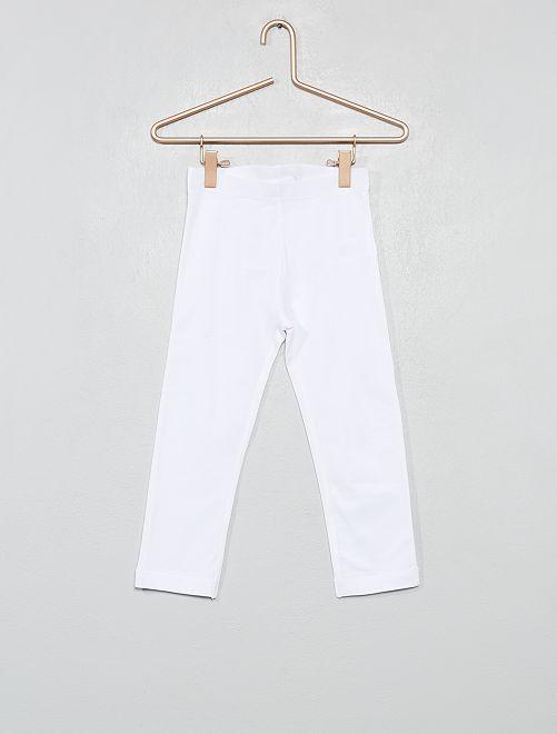 Leggings corti stretch                                                                                                     bianco