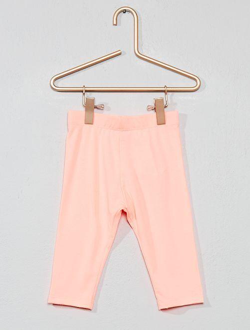 Leggings corti tinta unita                                                                             rosa fluorescente Neonata