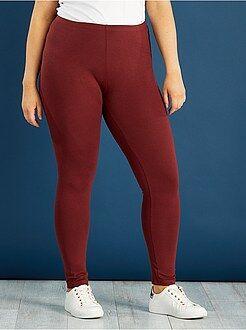 Leggings rosso - Leggings lunghi cotone STRETCH