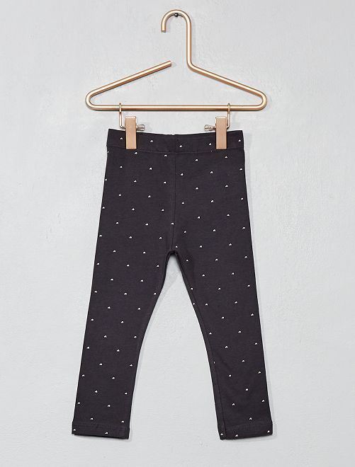Leggings lunghi stampa all over                                                                 NERO Neonata