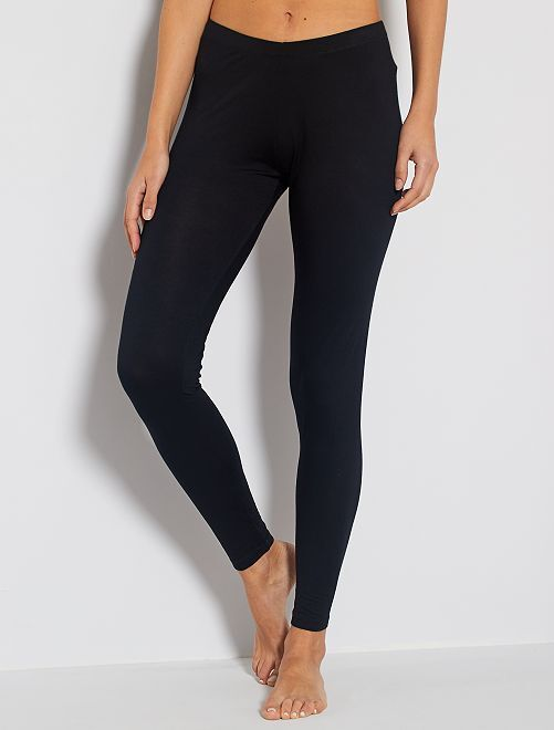Leggings lunghi stretch                             nero