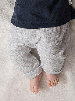 Pantaloni, jeans, leggings - Leggings morbidezza quadrato neonato cotone bio