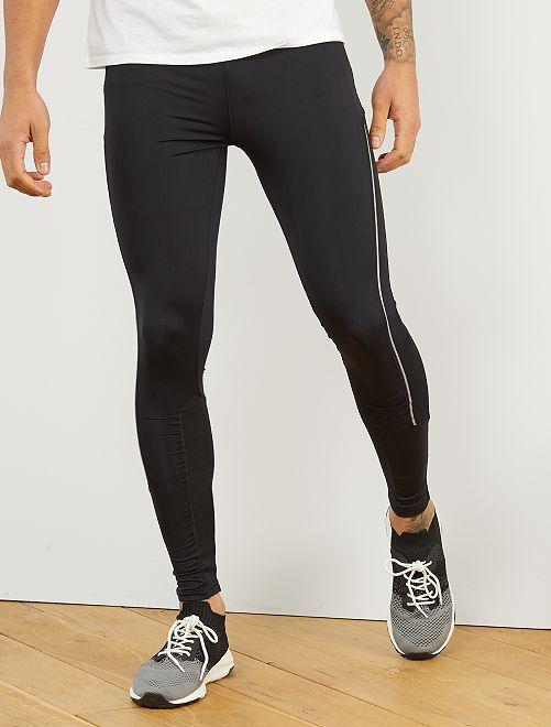 Leggings sport microfibra                             nero