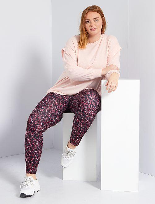 Leggings sportivi fantasia                                         ROSA