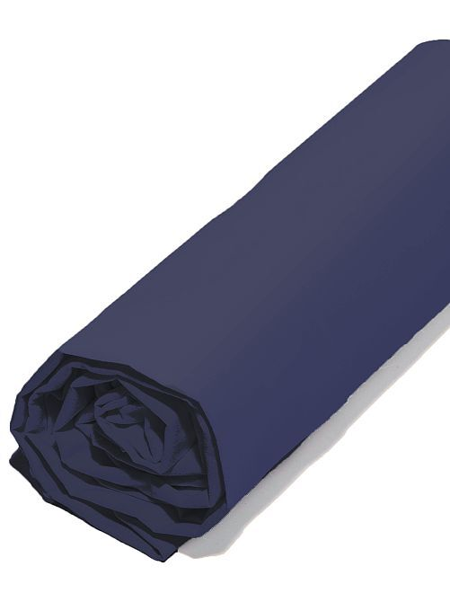 Lenzuolo con angoli in raso di cotone                                                                             BLU