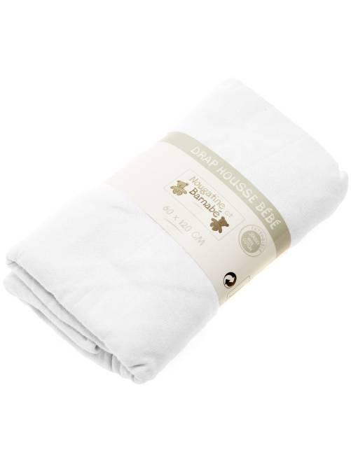 Lenzuolo con angoli tinta unita per letto bebè bianco Neonato