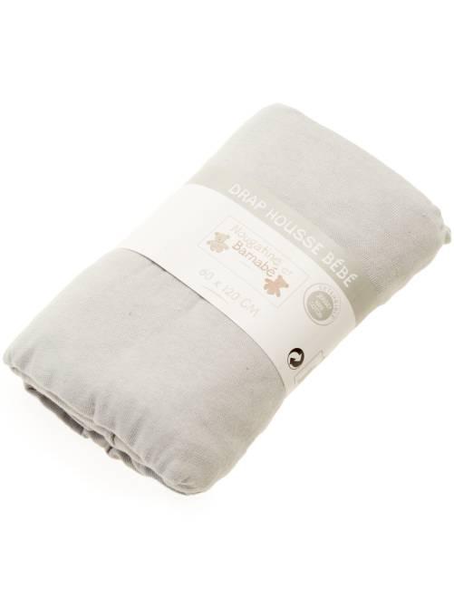 Lenzuolo con angoli tinta unita per letto bebè                                                                                         grigio Neonato