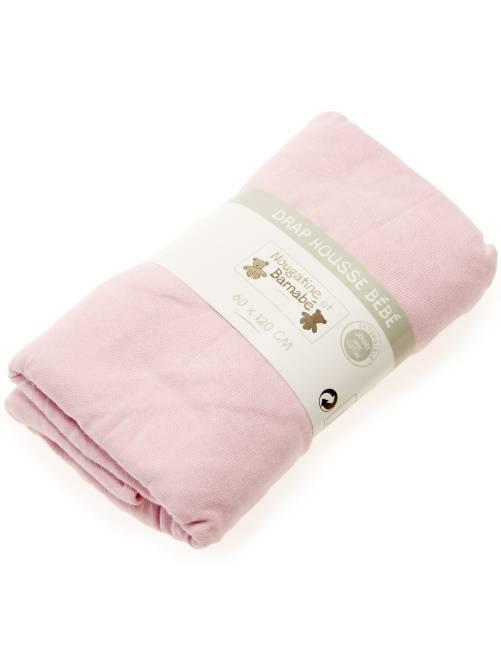 Lenzuolo con angoli tinta unita per letto bebè                                                                                         rosa Neonata