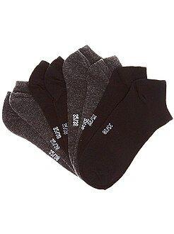 Bambino 10-18 anni - Lotto 4 paia di calzini invisibili - Kiabi