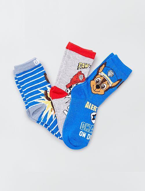 Lotto di 3 paia di calzini 'Paw Patrol'                                         blu