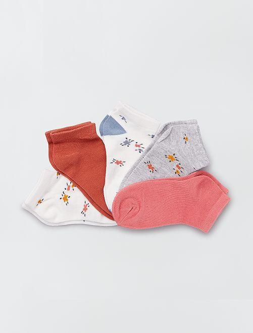 Lotto di 5 paia di calzini 'floreali'                                                                 fiori