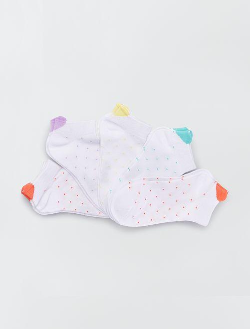 Lotto di 5 paia di calzini 'floreali'                                                                             ROSSO