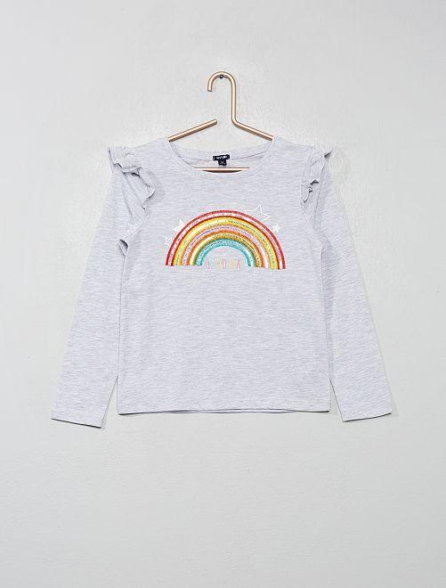 Maglia 'arcobaleno'                                         GRIGIO