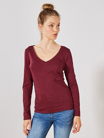 d9178ea0aa Saldi magliette manica lunga donna - tshirt Donna | Kiabi