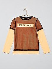 pretty nice 05b8a 5cd5b Magliette manica lunga Bambino | nero | Kiabi
