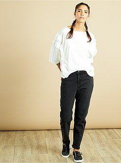Magliette bianco - Maglia maniche 3/4 con volant