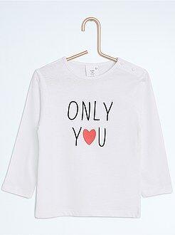 T-shirt - Maglia maniche lunghe con stampa