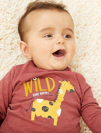 433220beb7e387 Bambino 0-36 mesi - Maglia maniche lunghe con stampa - Kiabi
