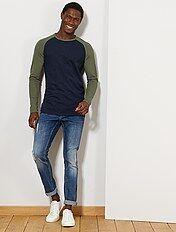 huge discount 476c1 9ce03 T-shirt manica lunga uomo - magliette Uomo   Kiabi