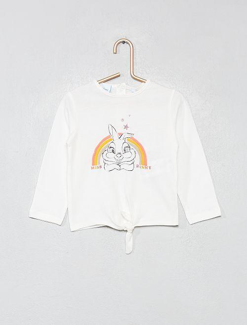 Maglia 'Miss Bunny'                             BIANCO Neonata