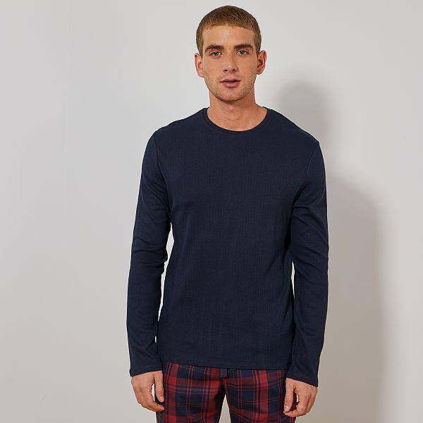 nuovo di zecca f455a b538b Maglia pigiama maniche lunghe Uomo - BLU - Kiabi - 7,00€