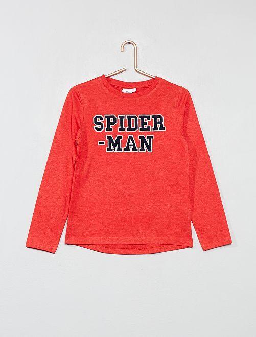 Maglia ricamo 'Spiderman'                                         ROSSO Infanzia bambino