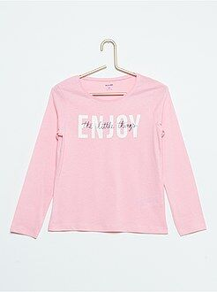 Maglia stampa 'Enjoy the little things'