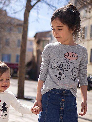 Maglia stampa 'Minnie & Topolino' - Kiabi