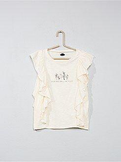 T-shirt, magliette - Maglia stampata con volant - Kiabi