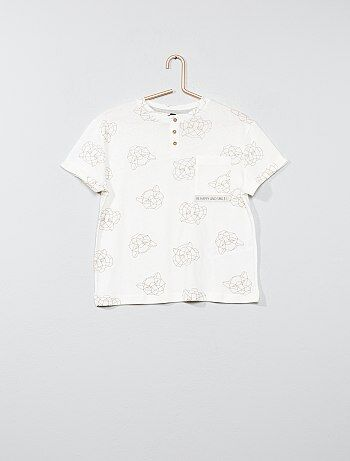 Maglietta a righe collo alla tunisina - Kiabi