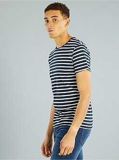 Magliette - Maglietta a righe jersey