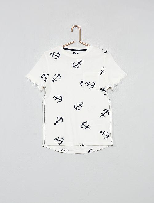 Maglietta 'ancora'                                         BIANCO Infanzia bambino