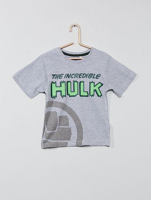 Maglietta applicazione 'Hulk'                             grigio Infanzia bambino