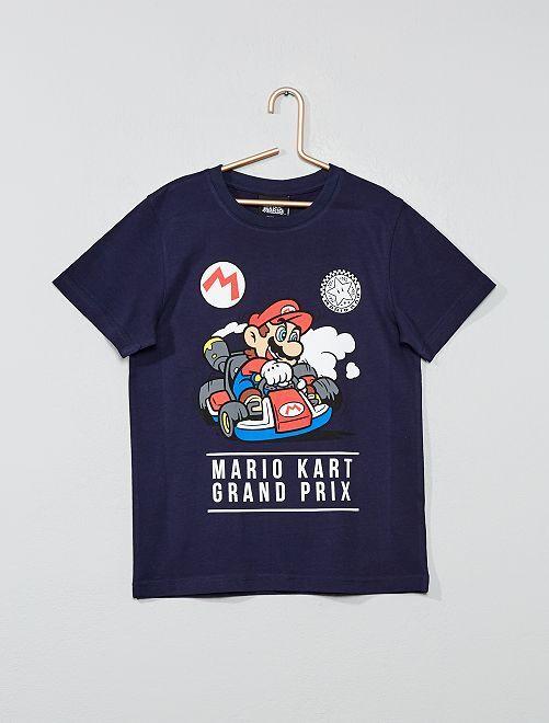 Maglietta applicazione 'Mario'                                                     blu marino Infanzia bambino