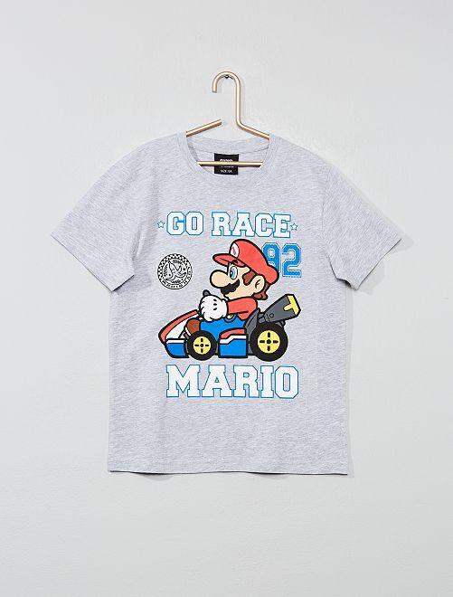 Maglietta applicazione 'Mario'                     grigio Infanzia bambino