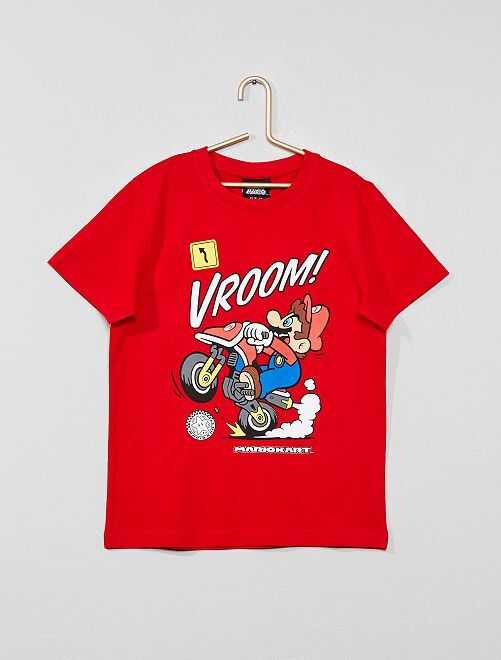 Maglietta applicazione 'Mario'                                                     rosso Infanzia bambino