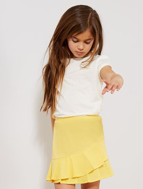 Maglietta basic eco-design                                                                 bianco neve Infanzia bambina