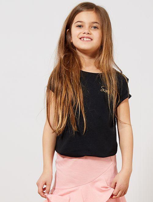 Maglietta basic eco-design                                                                 nero Infanzia bambina