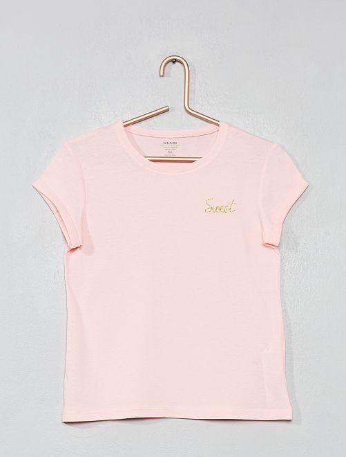 Maglietta basic eco-design                                                                 ROSA Infanzia bambina