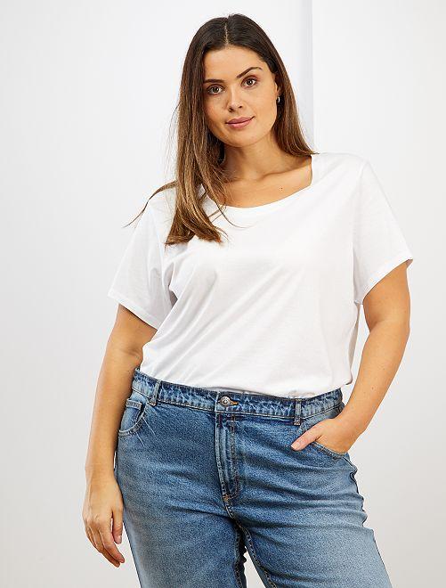 Maglietta basic puro cotone                                                                                                                                         bianco