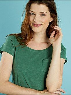 Magliette maniche corte - Maglietta basic tasca sul petto