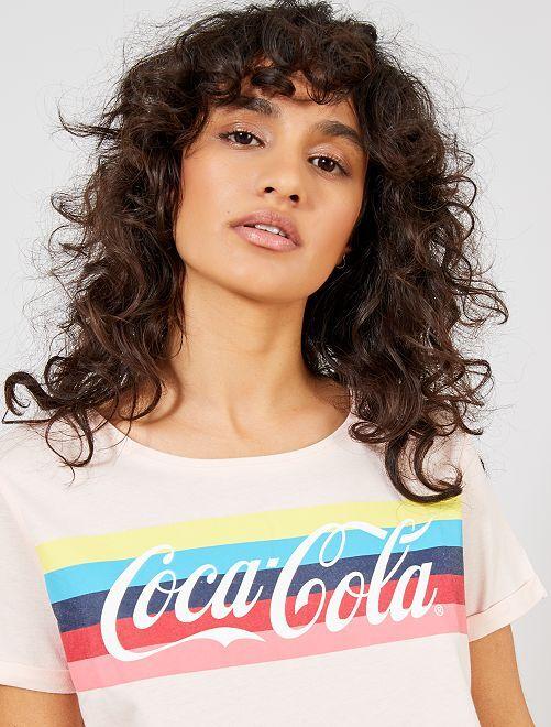 Maglietta 'Coca Cola'                             ROSA Donna