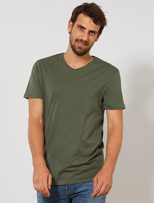 Maglietta collo a V + 1 m 90                                                                                          verde timo