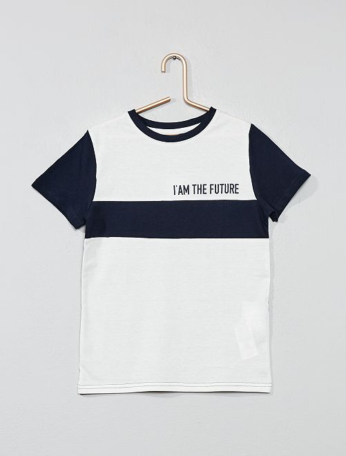Maglietta 'color block'                                                                 BIANCO Infanzia bambino