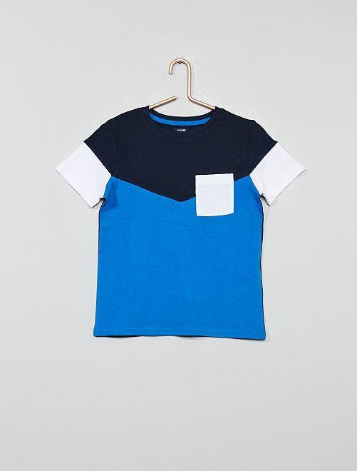 Maglietta color block                                                                             BLU Infanzia bambino