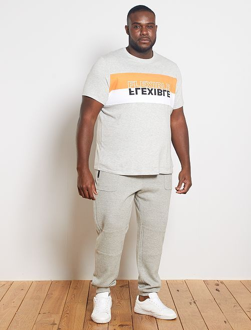 Maglietta color block 'eco-design'                             NERO