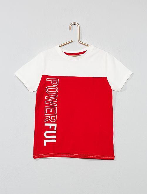 Maglietta 'color block'                                                                 ROSSO Infanzia bambino