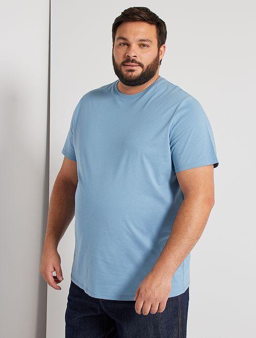 Maglietta comfort jersey                                                                                                                                                                 blu grigio