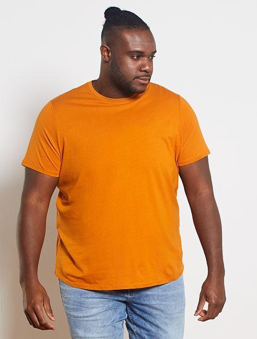 Maglietta comfort jersey                                                                                         marrone